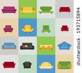 sofa and armchair icons  vector ... | Shutterstock .eps vector #193715894