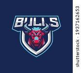 bulls mascot logo design... | Shutterstock .eps vector #1937162653