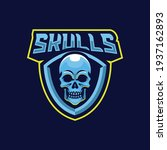 skulls mascot logo design... | Shutterstock .eps vector #1937162893