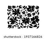 chamomile hand drawn black... | Shutterstock .eps vector #1937166826