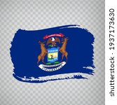 flag of michigan from brush...