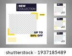 new set of editable minimal... | Shutterstock .eps vector #1937185489