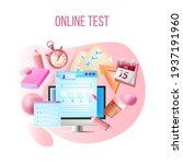 vector online test  internet...   Shutterstock .eps vector #1937191960