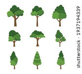 set of trees object isolated on ... | Shutterstock .eps vector #1937194339
