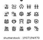 lgbt or glbt. rainbow heart.... | Shutterstock .eps vector #1937196970