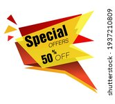 special offer 50  0ff price tag ... | Shutterstock .eps vector #1937210809