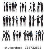 silhouettes of business people... | Shutterstock .eps vector #193722833