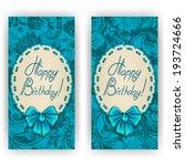 set of elegant templates of... | Shutterstock .eps vector #193724666