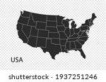 usa map vector  black color.... | Shutterstock .eps vector #1937251246