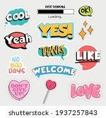 set of flat design social media ... | Shutterstock .eps vector #1937257843