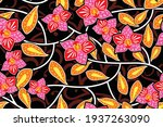 seamless pattern with floral...   Shutterstock .eps vector #1937263090