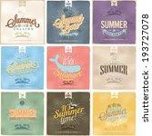 set of beautiful vintage...   Shutterstock .eps vector #193727078