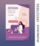 tiny kids listening lesson via...   Shutterstock .eps vector #1937273533