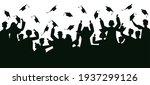 graduates crowd silhouette.... | Shutterstock .eps vector #1937299126