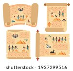 egyptian papyrus scrolls....   Shutterstock .eps vector #1937299516