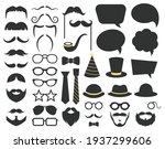 fathers day photo booth props.... | Shutterstock .eps vector #1937299606