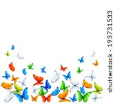 colored butterflies flying on... | Shutterstock .eps vector #193731533