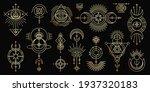 vector golden set of mystical... | Shutterstock .eps vector #1937320183