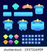 sea blue shell game ui set...