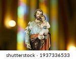 Saint Joseph And Baby Jesus Of...