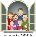 big family   illustration | Shutterstock .eps vector #193734194