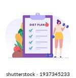 diet plan.  oncept of fitness...   Shutterstock .eps vector #1937345233
