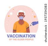 vaccination of the elderly... | Shutterstock .eps vector #1937354383