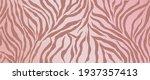 rose gold zebra skin background ... | Shutterstock .eps vector #1937357413