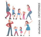 excited people celebrating... | Shutterstock .eps vector #1937359003