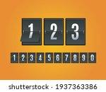 mechanical scoreboard numbers... | Shutterstock .eps vector #1937363386