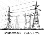 illustration with electrical... | Shutterstock .eps vector #193736798
