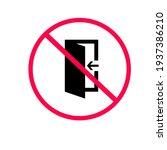 don't leave the door open. it...   Shutterstock .eps vector #1937386210