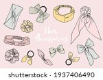 collection of cute doodled... | Shutterstock .eps vector #1937406490