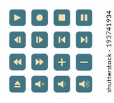 media player buttons in flat... | Shutterstock .eps vector #193741934