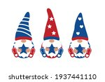 patriotic gnome set with stars... | Shutterstock .eps vector #1937441110