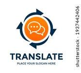 translate vector logo template. ... | Shutterstock .eps vector #1937442406