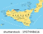 sicily  autonomous region of... | Shutterstock .eps vector #1937448616