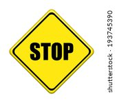 stop sign on white background | Shutterstock . vector #193745390
