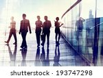 silhouettes of business people... | Shutterstock . vector #193747298