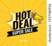hot deal super sale abstract... | Shutterstock .eps vector #1937480926