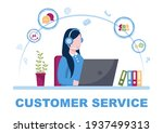 contact us customer service for ...   Shutterstock .eps vector #1937499313
