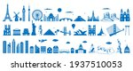 world famous architecture... | Shutterstock .eps vector #1937510053