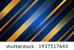 abstract blue and gold stripes...   Shutterstock .eps vector #1937517643