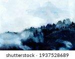 foggy indigo mountains and... | Shutterstock . vector #1937528689