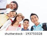 group of happy friends bonding... | Shutterstock . vector #193753328