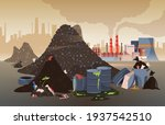 polluted city area with... | Shutterstock .eps vector #1937542510