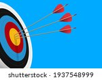 red arrow hit to center of... | Shutterstock .eps vector #1937548999