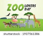 vector graphic of zoo lovers... | Shutterstock .eps vector #1937561386