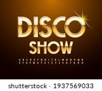 vector premium flyer disco show.... | Shutterstock .eps vector #1937569033