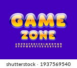 vector bright sign game zone.... | Shutterstock .eps vector #1937569540